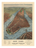 1879  New York City 1879 Bird's Eye View  New York  United States
