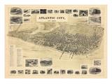 1900  Atlantic City Bird's Eye View  New Jersey  United States