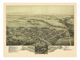 1894  Perkasie Bird's Eye View  Pennsylvania  United States