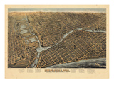 1872  Milwaukee Bird's Eye View  Wisconsin  United States