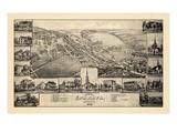 1887  Ephrata Bird's Eye View  Pennsylvania  United States