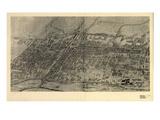1907  Arlington Bird's Eye View  New Jersey  United States