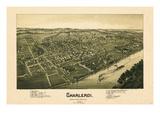 1897  Charleroi Bird's Eye View  Pennsylvania  United States