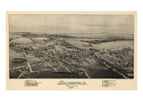 1894  Sellersville Bird's Eye View  Pennsylvania  United States