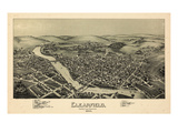 1895  Clearfield Bird's Eye View  Pennsylvania  United States
