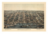 1863  Alexandria Bird's Eye View  Virginia  United States
