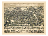 1883  Nashua Bird's Eye View  New Hampshire  United States