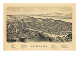 Catskill 1889 Bird's Eye View  New York  United States  1889