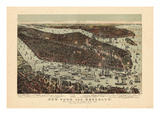 1892  New York City 1892 Bird's Eye View 24x33  New York  United States