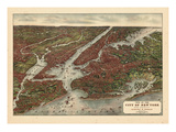 1907  New York City 1907 Bird's Eye View  New York  United States