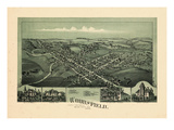1899  Woodsfield Bird's Eye View  Ohio  United States