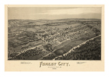 1889  Forest City Bird's Eye View  Pennsylvania  United States