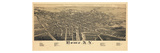 1886  Rome 1886 Bird's Eye View  New York  United States