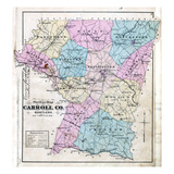 1877  Carroll County Map  Maryland  United States
