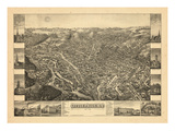 1881  Little Falls Bird's Eye View  New York  United States