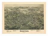 1897  Uniontown Bird's Eye View  Pennsylvania  United States