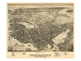 1877  Portsmouth Bird's Eye View  New Hampshire  United States