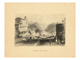 1840  Erie Canal and Lockport 1840 View  New York  United States