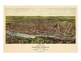 1907  Philadelphia Manayunk - Bird`s Eye View  Pennsylvania  United States