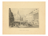 1840  Boston View of State Street  Massachusetts  United States