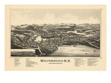 1889  Wolfeborough Bird's Eye View  New Hampshire  United States