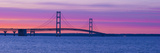 Silhouette of a Suspension Bridge at Sunset  Mackinac Bridge  Michigan  USA
