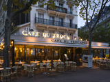 Chairs and Tables in a Restaurant at Dawn  Cafe Du Trocadero  Paris  Ile-De-France  France