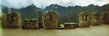 Ruins of Buildings with Mountains in the Background  Inca Ruins  Machu Picchu  Cusco Region  Peru