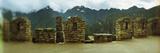 Ruins of Buildings with Mountains in the Background  Inca Ruins  Machu Picchu  Cusco Region  Peru
