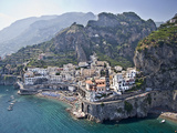 Town at the Waterfront  Amalfi  Atrani  Amalfi Coast  Salerno  Campania  Italy