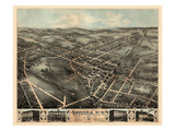 1874  Oneida  Bird's Eye View  New York  United States