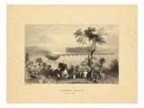 1840  Columbia Bridge View of Susquehanna  Pennsylvania  United States