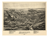 1891  Moscow Bird's Eye View  Pennsylvania  United States