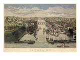 1855  Oswego 1855 Bird's Eye View  New York  United States