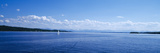 Lake with Mountains in the Background  Starnberger See  Lake Starnberg  Bavaria  Germany
