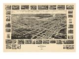 1907  Suffolk Bird's Eye View  Virginia  United States