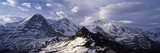 Snow Covered Mountains  Mt Eiger  Mt Monch  Mt Jungfrau  Mt Tschuggen  Mt Mannlichen  Grindelwal