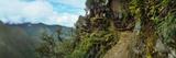 Inca Trail at the Mountainside  Machu Picchu  Cusco Region  Peru