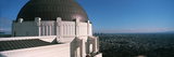 Observatory with Cityscape in the Background  Griffith Park Observatory  Los Angeles  California