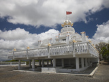 Facade of a Hindu Temple  Sagar Shiv Mandir  Poste De Flacq  Mauritius