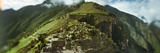 High Angle View of an Archaeological Site  Inca Ruins  Machu Picchu  Cusco Region  Peru