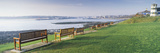 Empty Benches at the Riverside  Tyne River  Tynemouth  Tyne and Wear  England