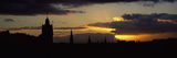 Silhouette of a Hotel at Dusk  Balmoral Hotel  Princes Street  Edinburgh  Scotland
