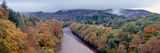 Autumnal Trees at the Riverside  River Garry  Perthshire  Scotland