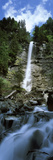 Waterfall in a Forest  Tatschbachfall  Engelberg  Obwalden Canton  Switzerland