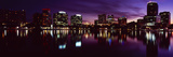 Buildings Lit Up at Night in a City  Lake Eola  Orlando  Orange County  Florida  USA 2010