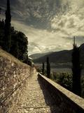 Staircase Leading Towards a Church  Chiesa Santa Maria Del Sasso  Morcote  Lake Lugano  Ticino