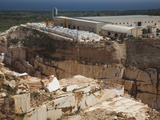 High Angle View of a Marble Quarry  Orosei  Golfo Di Orosei  Sardinia  Italy