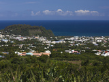 Aerial View of a Town  St Joseph  Reunion Island