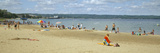 Tourists on the Beach  Traverse City  Grand Traverse County  Michigan  USA